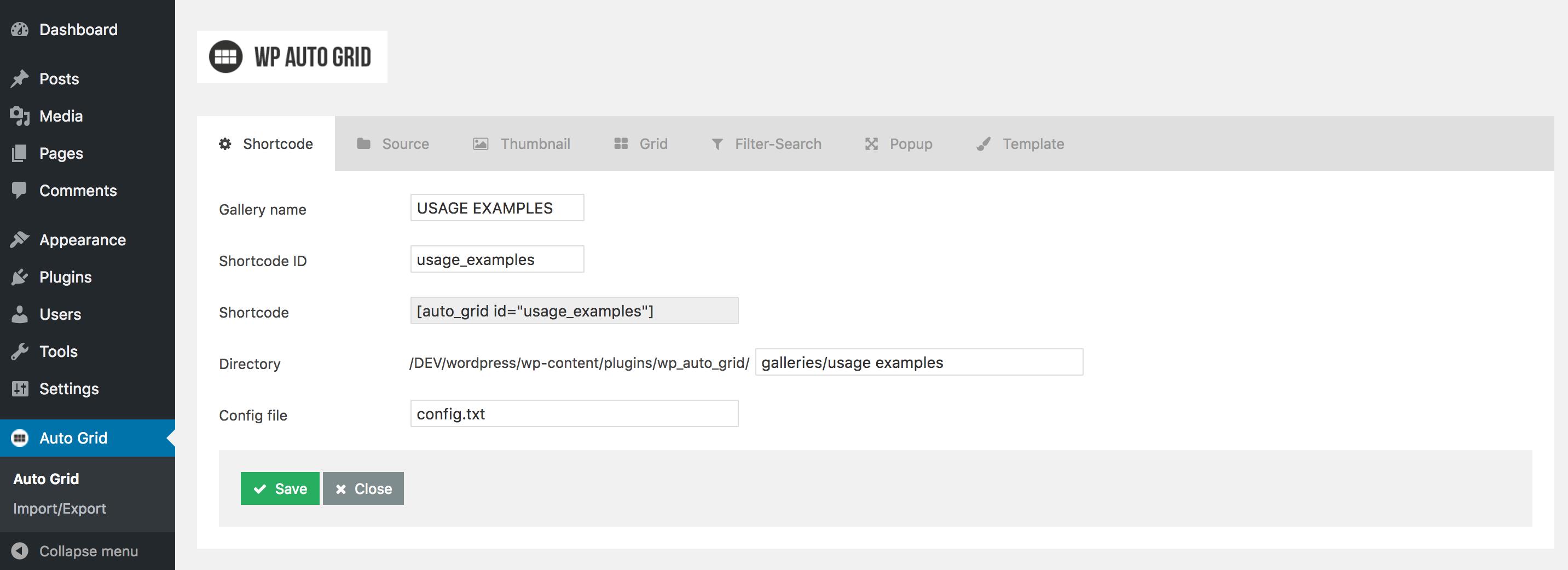 Galeria Auto Grid Responsive - WordPress - 2
