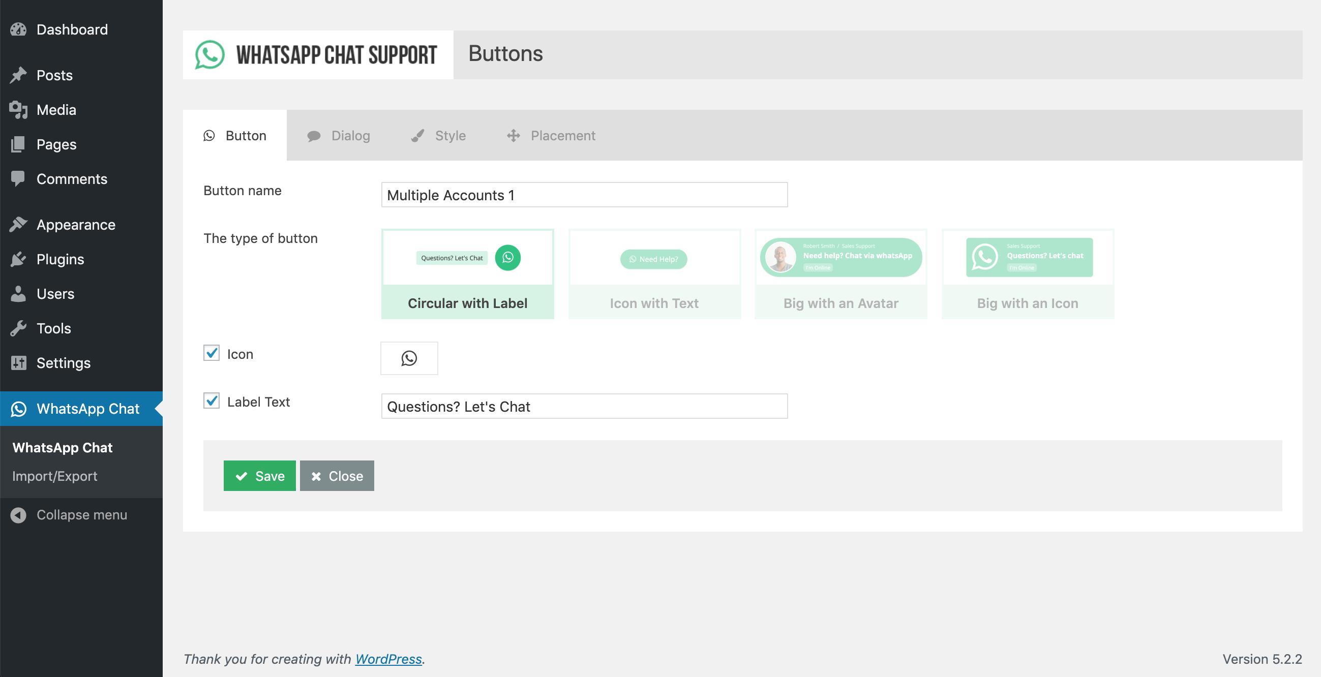 WhatsApp Chat Support - WordPress Plugin - 3
